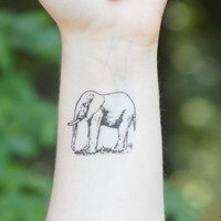 Temporary Tattoo - Elephant Tattoo - Animal Tattoo