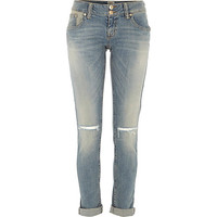 River Island Womens Light wash ripped knee Matilda skinny jeans