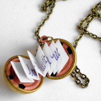 Personalized DIY Locket Necklace-Vintage Brass Ball Locket- Mother's Day, Bridesmaid, Wife, Girlfriend
