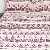 Magical Thinking Stamped Geo-Point Sham - Set Of 2- Purple One