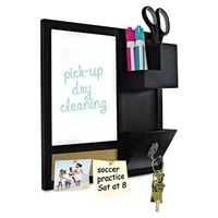 Bi-silque Dry-Erase Board with Bulletin Surface, 16 by 16-Inch, Black