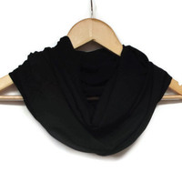 Black Infinity Scarf, Chiffon Tube Scarf, Women Accessories