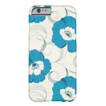 Blue and White Floral iPhone 6 Case
