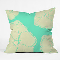 Allyson Johnson Bright Flowers Outdoor Throw Pillow