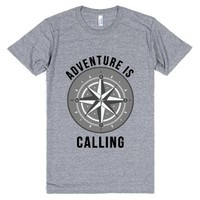 Adventure is calling-Unisex Athletic Grey T-Shirt
