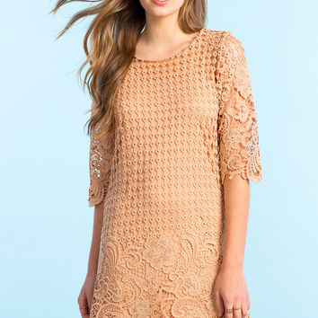 All Over Crochet Shift Dress