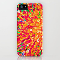 NEON SPLASH - WOW Intense Dash of Cheerful Color, Bold Water Waves Nature Lovers Modern Abstract  iPhone Case by EbiEmporium | Society6