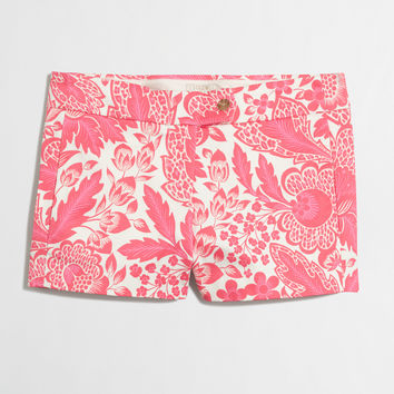 "Factory 3"" printed stretch chino short : 3"" 
