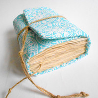 Sky Blue Ethnic Journal,Handmade Diary, Travel Book, Old Paper, Pregnancy journals, Notebooks