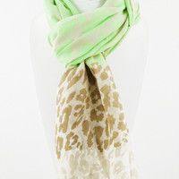 Neon Green Spring Scarf