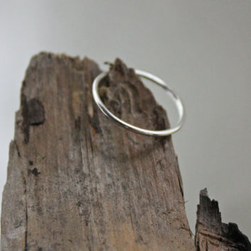Argentium Silver Skinny Stacker - Stacking Ring - Knuckle Ring - Simple Silver Stack Ring