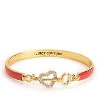 ENAMEL HEART & KEY BANGLE by Juicy Couture