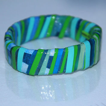 Land and Water Bangle Bracelet