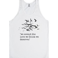 Perks of being a Wallflower-Unisex White Tank