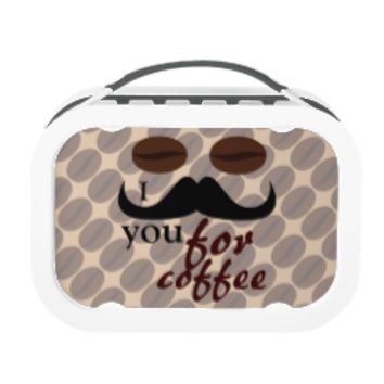 Cool I mustache you for coffee Lunch Boxes