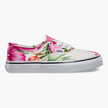 Vans Hawaiian Floral Authentic Girls Shoes White  In Sizes