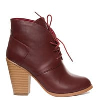 Raelynn Booties - Burgundy