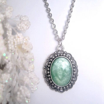 Mint Necklace - Opaque Pastel Green