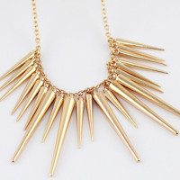 Collares 2015 Pendant Necklace Gold Silver Spike Steampunk Necklace New Fashion Bijoux Women