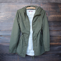 hooded utility parka jacket