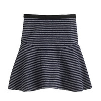 J.Crew Womens Plaza Skirt In Stripe Tweed