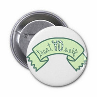 Parks and Recreation Treat YO Self Quote Pin