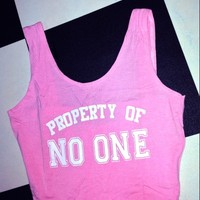 SWEET LORD O'MIGHTY! PROPERTY OF NO ONE BRALET IN PINK