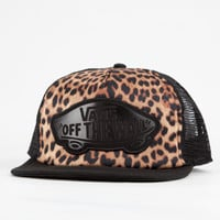 Vans Leopard Womens Trucker Hat Black One Size For Women 18990610001