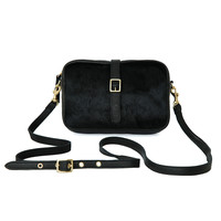 Supreme Black Haircalf Mini Sac