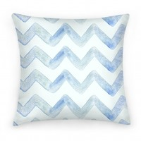 Blue Watercolor Chevron Pattern