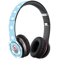 White Polka Dot on Baby Blue Decal Skin for Beats Solo HD Headphones by Dr. Dre