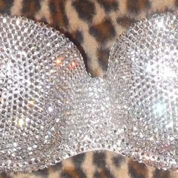 Silver Swarovski Cystal Multiway/Strapless Bralet Any Size A-F Cups