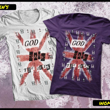 Geek t shirt God save the Geek by purplecactusdesign on Etsy