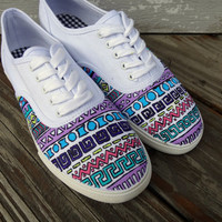 Tribal Pattern Vans by UrbanRags on Etsy