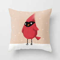 Winter Cardinal Throw Pillow by Dale Keys   Society6