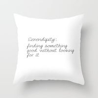 Serendipity Throw Pillow by Amber Rose | Society6