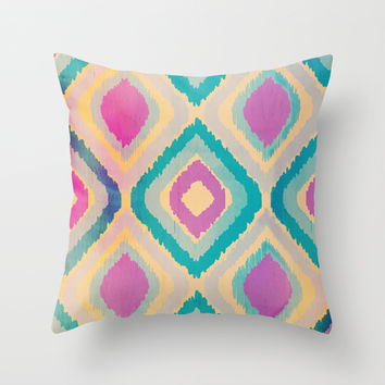 URBAN IKAT Throw Pillow by Nika