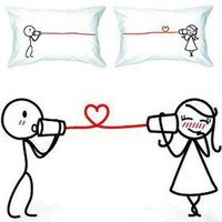 """BoldLoft """"Say I Love You"""" Couple Pillowcases-Christmas Gifts,Romantic Anniversary Gifts,Wedding Gifts,Valentine's Day Gifts,Gifts for Him,Gifts for Her"""