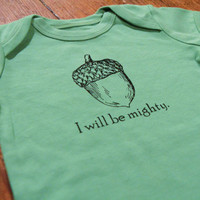 $18.00 Baby OnesuitI will be Mighty cute screen print by TheCoinLaundry