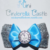 Mini Cinderella Castle Hair Bow by MickeyWaffles on Etsy