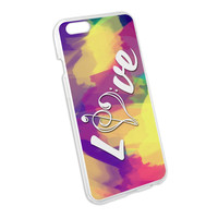 Music Heart - Love Treble Bass Clef Snap On Hard Protective Case for Apple iPhone 6