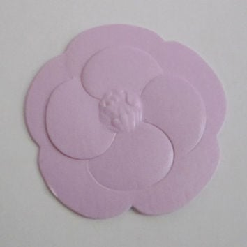 Sale** Authentic CHANEL Pink Paper Camellia Flower Sticker / Gift Wrapping / Paper Craft / Card / Scrapbooking / DIY