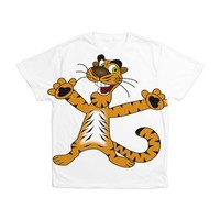 Happy Tiger Kid's All Over Print T-Shirt> Happy Tiger> cuteness