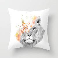 If I roar (The King Lion) Throw Pillow by Budi Satria Kwan