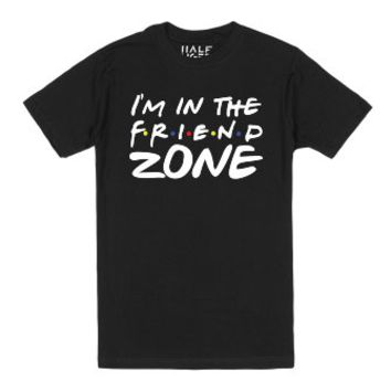 I'm In The Friend Zone (dark)-Unisex Black T-Shirt
