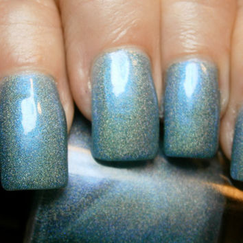Rive Gauche Nail Polish - Teal Duo Chrome Linear Holographic - Full Size 15 ml Bottle
