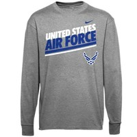Mens Air Force Falcons Nike Anthracite Military Classic Long Sleeve T-Shirt