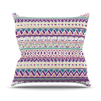 "Nika Martinez ""Boho Ibiza"" Pastel Pink Throw Pillow"