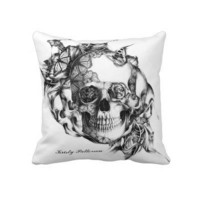 Butterfly Skull LARGE pillow from Zazzle.com