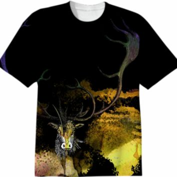CARABOU I, T-Shirt-3 created by atelier COLOUR-VISION | Print All Over Me